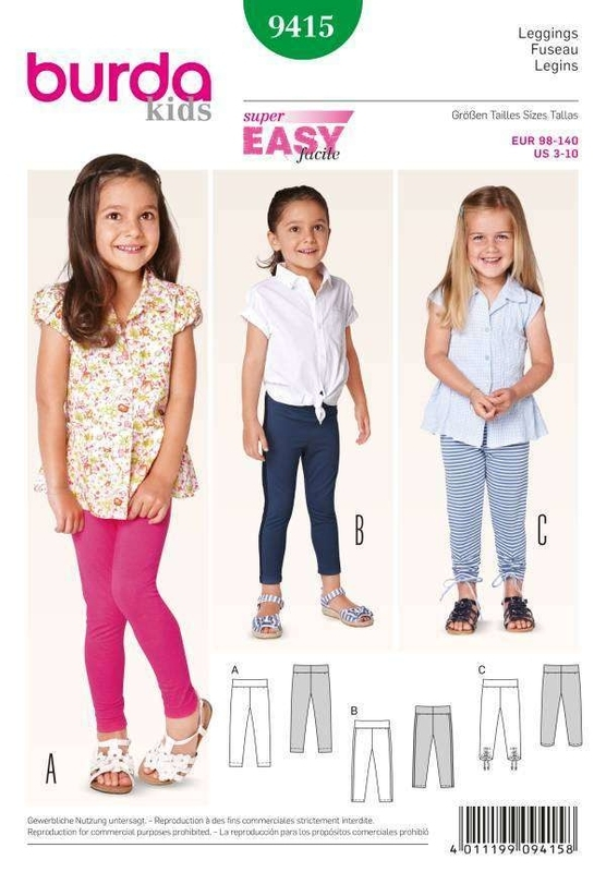 burda kids No 9415 Leggins Gr. 98 - 140