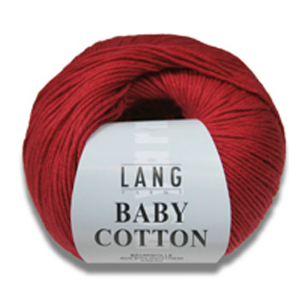 Lang Yarns Baby Cotton 50 g Farbe 60 rot