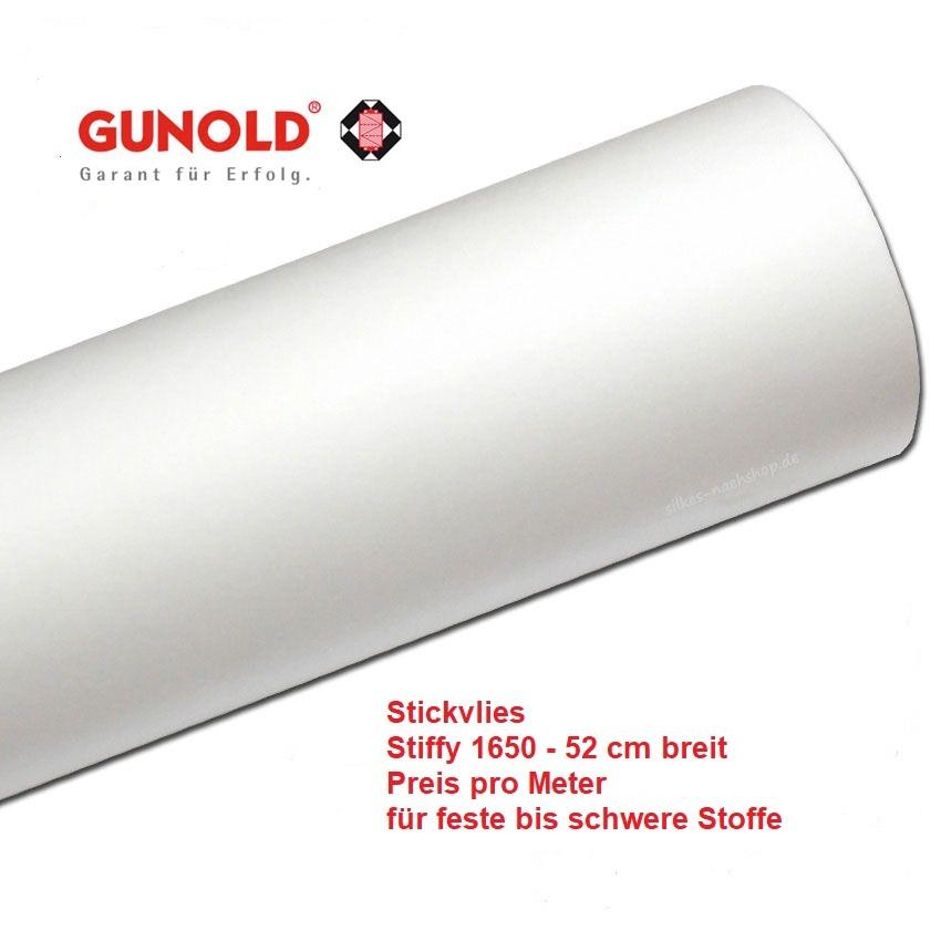 Gunold Stickvlies Stiffy 1620 abreißbar Farbe weiss Preis für 5 Meter